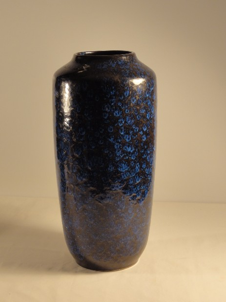 germany grosse scheurich bodenvase in blau 1960